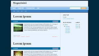 Magazinini Blogger Template