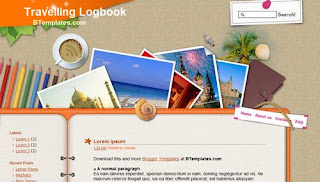 Travelling Logbook Blogger Template