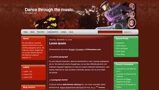 Dance through the music Blogger Template