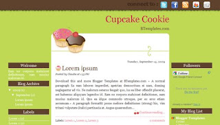 Cupcake Cookie Blogger Template