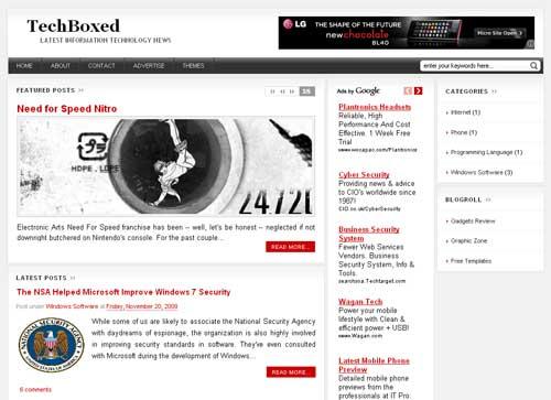 WPBoxedTech Free Premium Magazine Blogger Template