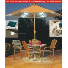 1000 solar ideen solar sonnenschirm mit led beleuchtung. Black Bedroom Furniture Sets. Home Design Ideas