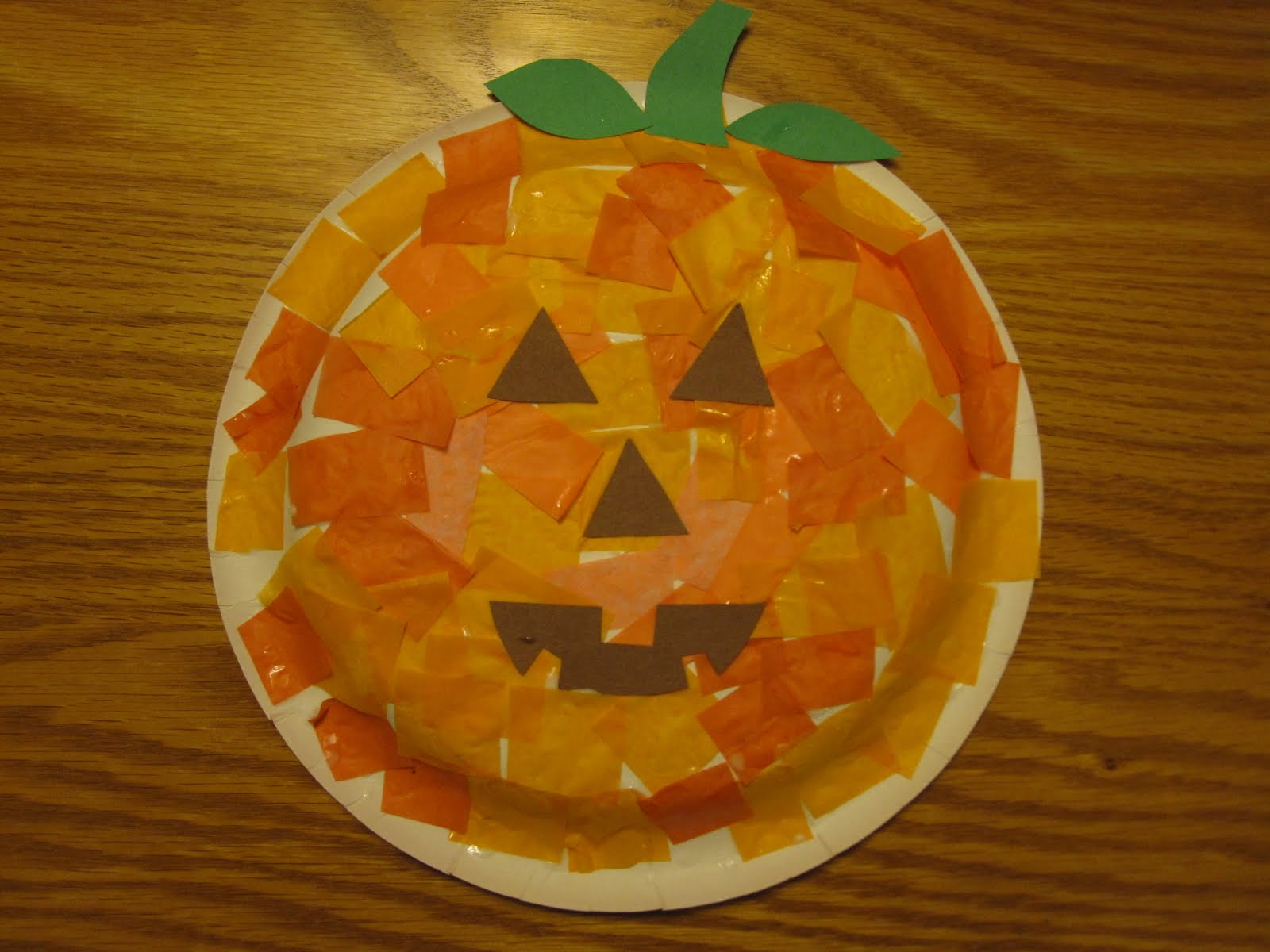 It is a graphic of Sweet Pumpkin Craft for Toddlers