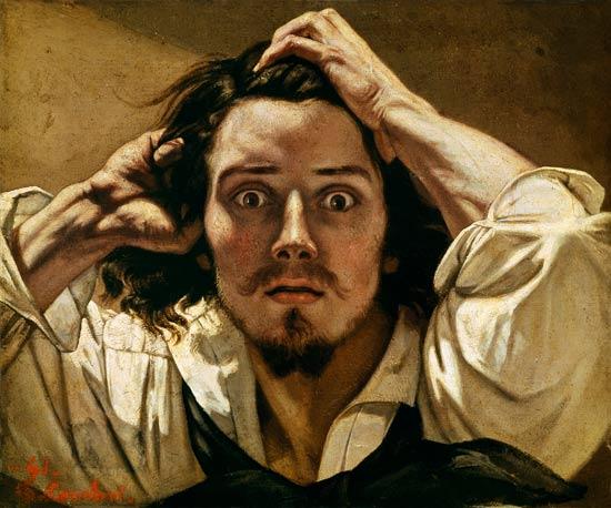 """Gustave Courbet.""""Le Désespéré"""".Autorretrato"""