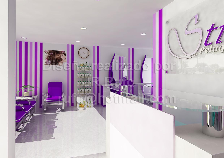 Jrr proyectos peluqueria y centro de estetica for Disenos de espejos para peluqueria