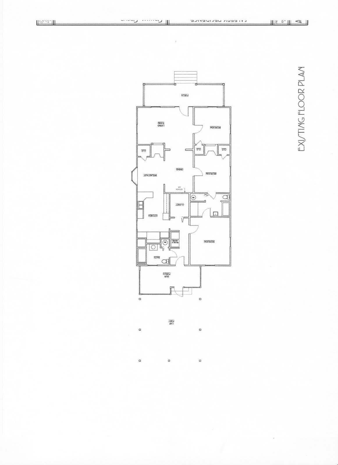 Our old house existing floor plan for How to get floor plans of an existing building