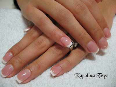 Beautiful Nail Art: Natural Overlay- Pink And White- French