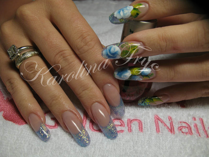 NAIL ART *** ACRYLIC *** UV GEL NAILS EXTENSION & OVERLAYS***CRYSTAL ...