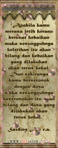 Nasihat Syaidina Ali r.a.