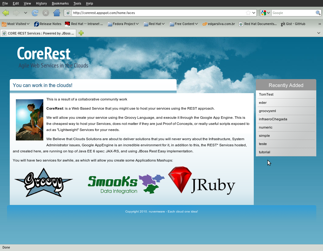 Resteasy on googleappengine corerest planet jboss developer corerest is a kind of paasplatform as a service which runs on google appengine which allows users to create their own lightweight webservices based baditri Choice Image
