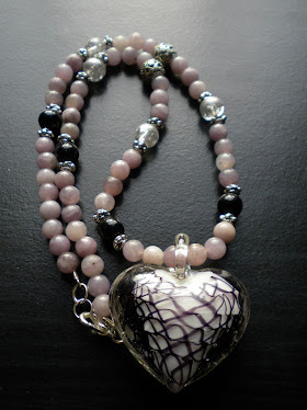 Lilac Stone Heart pendant necklace