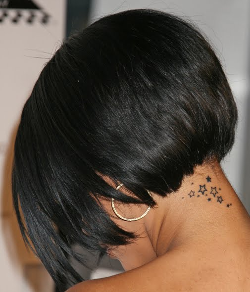 rihannas tattoo. one of Rihanna Tattoos on