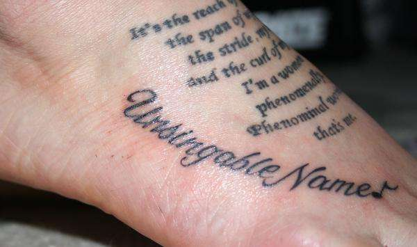 letter tattoos. Nice letter tattoo with