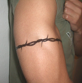 Tattoo armband writing