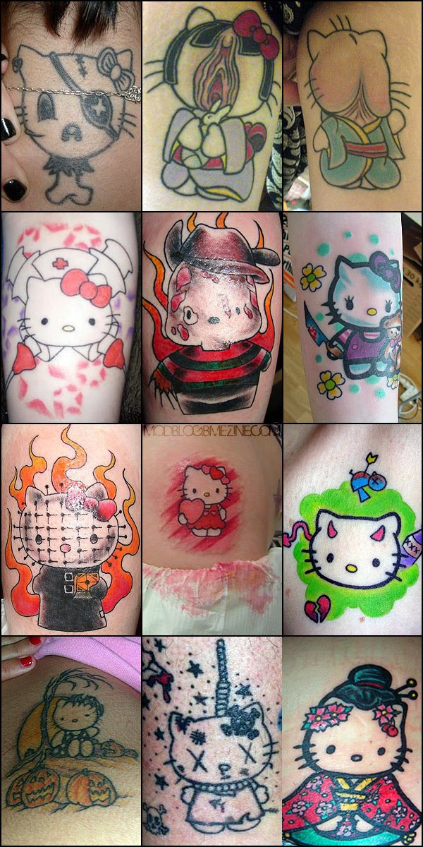 hello kitty tattoo art. hello kitty tattoos with stars