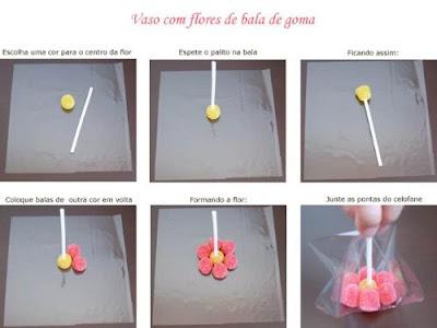 flor de jujuba1 Aprenda a fazer: flores de jujuba para crianças