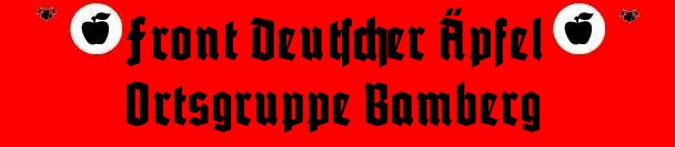 Apfelfront Bamberg
