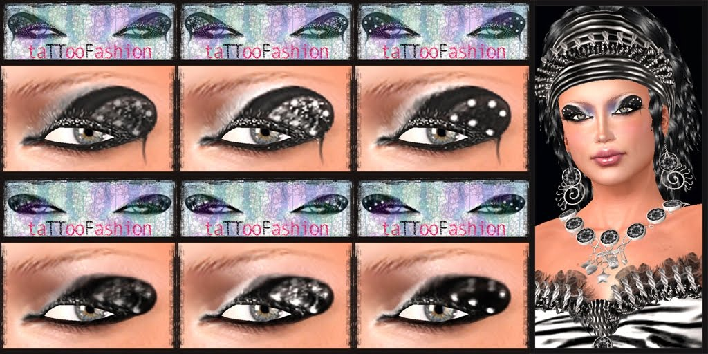TTF – EYES TATTOO – SET 7/BLACK & WHITE