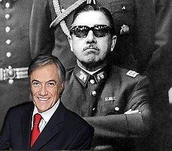 Piñera y al fondo su mentor