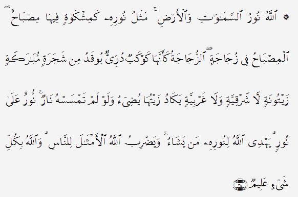 Surah An-Nur ayat 35