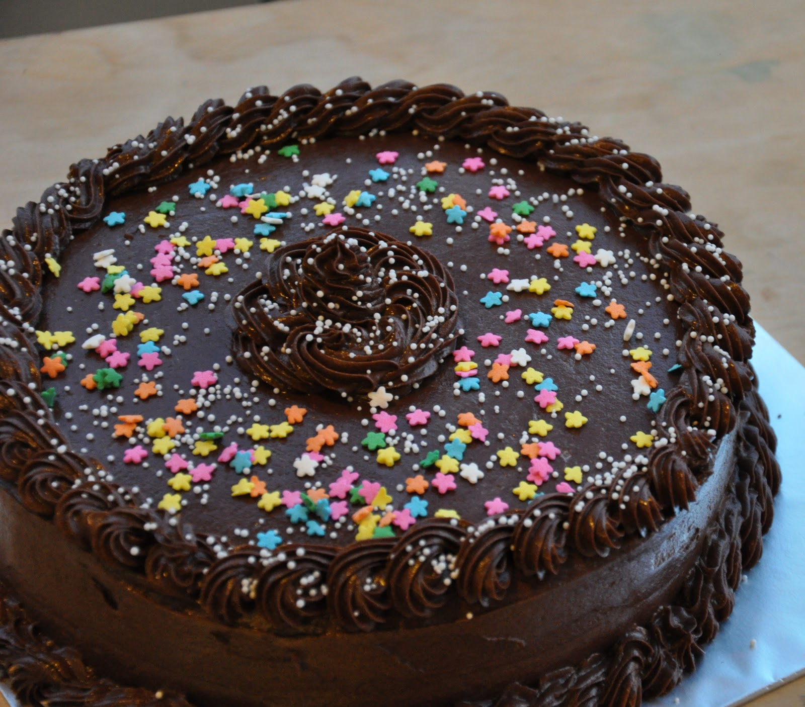 Eggless Chocolate Cake With Chocolate Frosting
