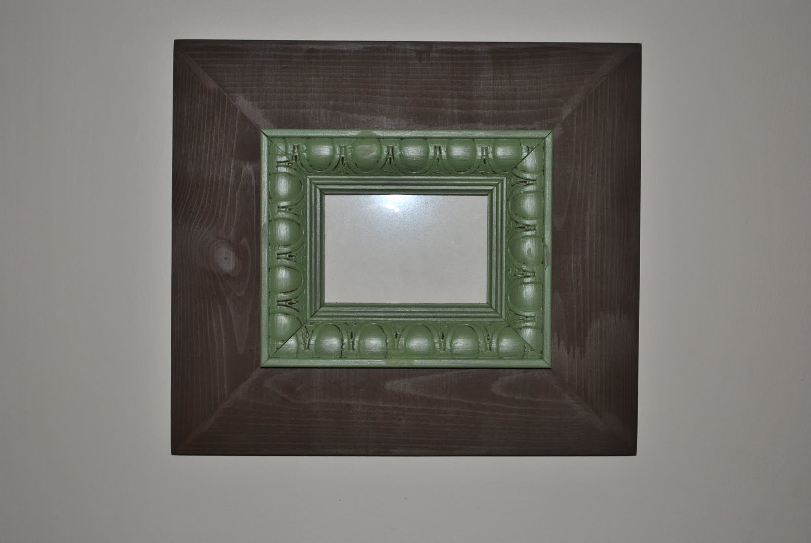 Travel home brown with green trim picture size 5x7 overall frame size 15x17 50 jeuxipadfo Gallery