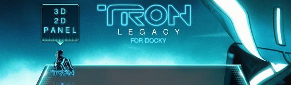 tema TRON legacy per Docky