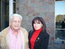 Sandra Gallardo junto a Antonio Cafiero