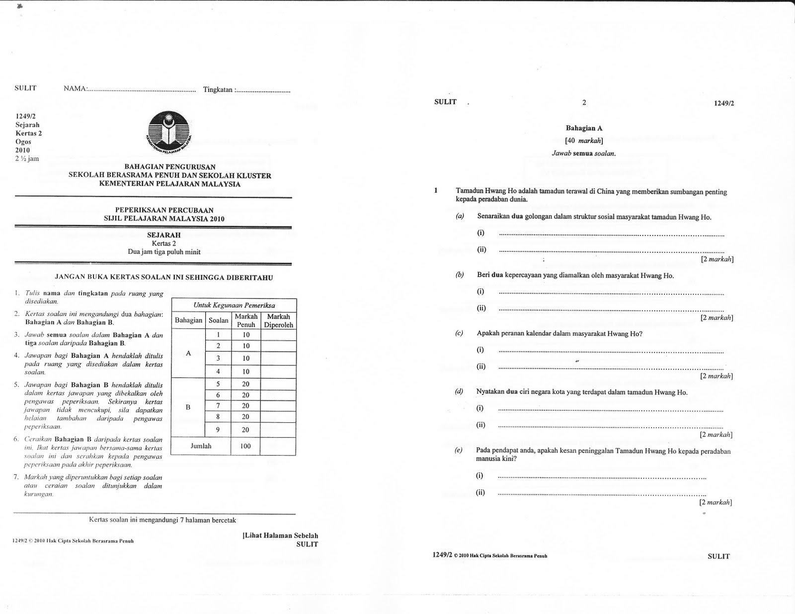 Top Soalan kertas 2 Kimia Percubaan Selangor 2012