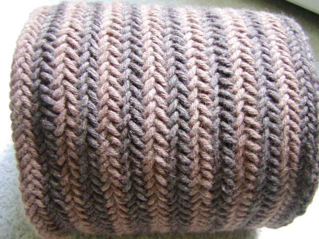 Knitting Pattern Herringbone Scarf : Knits Men Want: Reversible Herringbone Scarf
