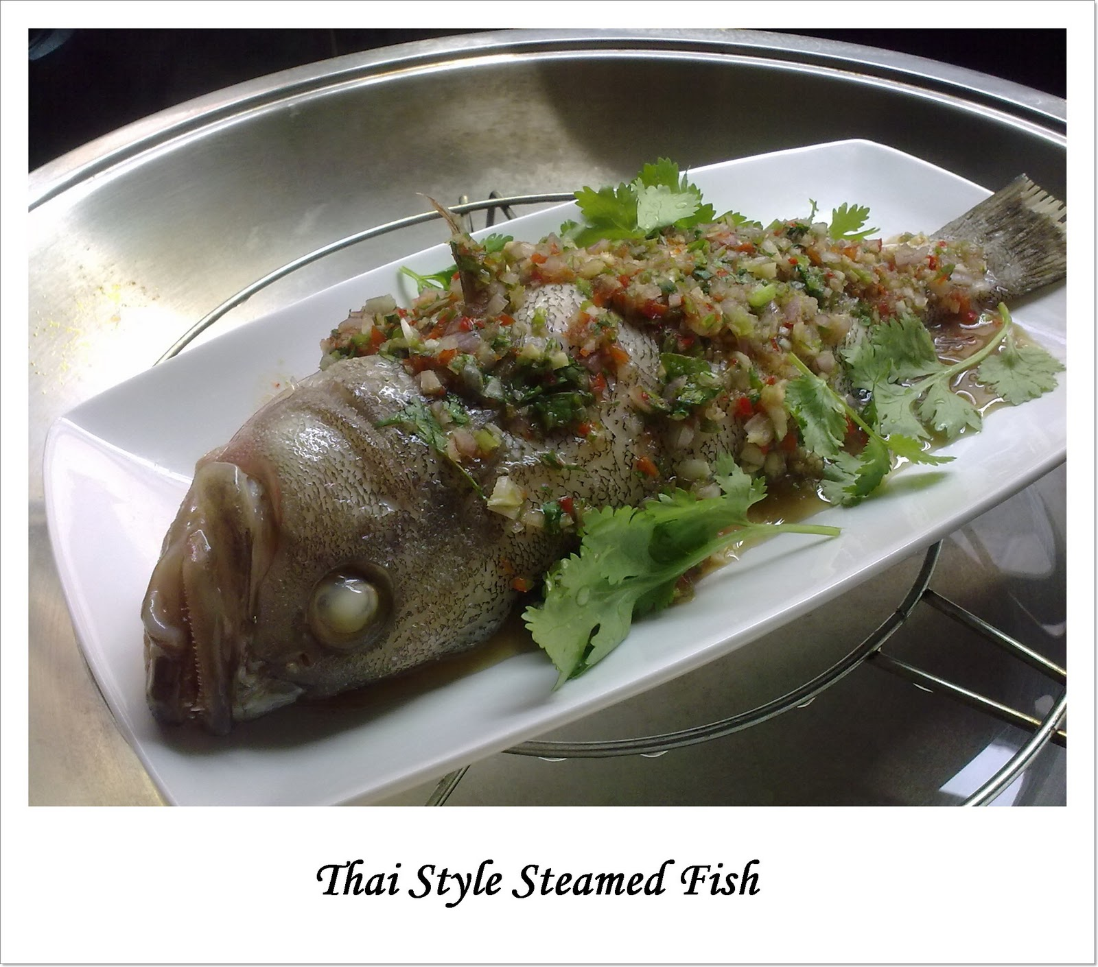 Home-cooked-ecstasy: Thai Style Steamed Fish