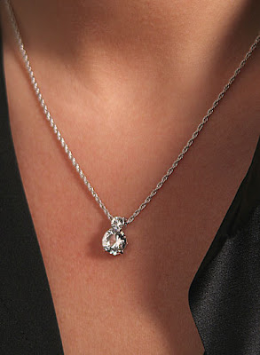 Crystal glass 3d swarovski rhodium and crystal solitaire necklace 16 mozeypictures Image collections