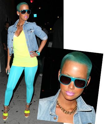 amber rose with hair pictures. dresses Amber Rose does NOT,