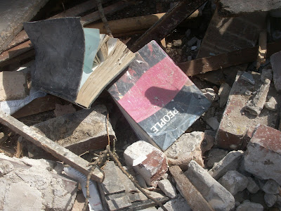 Books found during the demolition of the North Shore School of Rogers Park