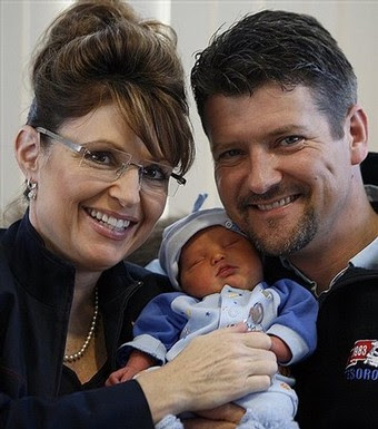 sarah palin using Trig as a prop