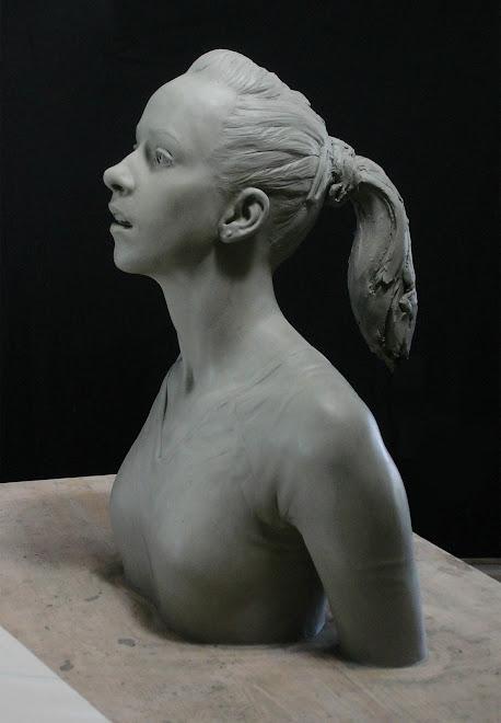 the gymnast (nastia liukin) clay form