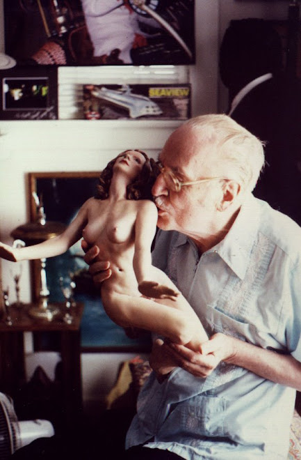 Forry Ackerman and friend (my figure painted by Holly)