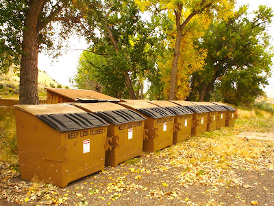garbage dumpsters, Thermopolis, Wyoming