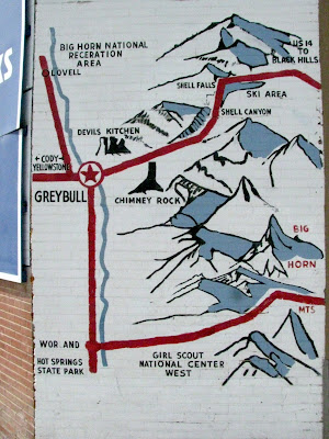 map of Grey bull, Wyoming