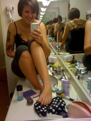 laughing mirror tattoo picture