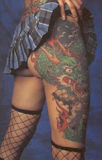 sexy dragon tattoo on foot girl