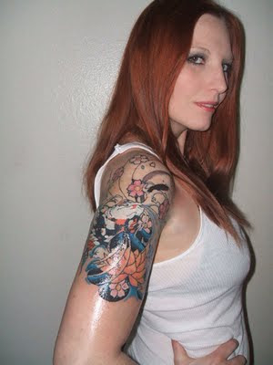 cherry blossom tattoo sleeve. Tattoo Sleeve For Sexy Girls