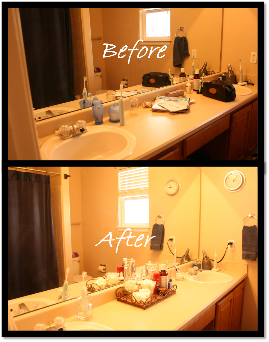 Quick   Simple Bathroom Vanity Makeover. Bed and Bath   Delightfully Organized