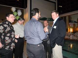 Jay Deady with Awarepoint clients at Viewpoint Welcome Reception