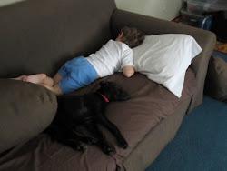 Sean & Andy taking a nap
