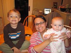 Sean, Mommy & Evie on Mommy's Birthday