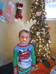 Sean with his Rudolph nose on Christmas