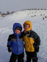 Sean & Chase sledding 02/02/11