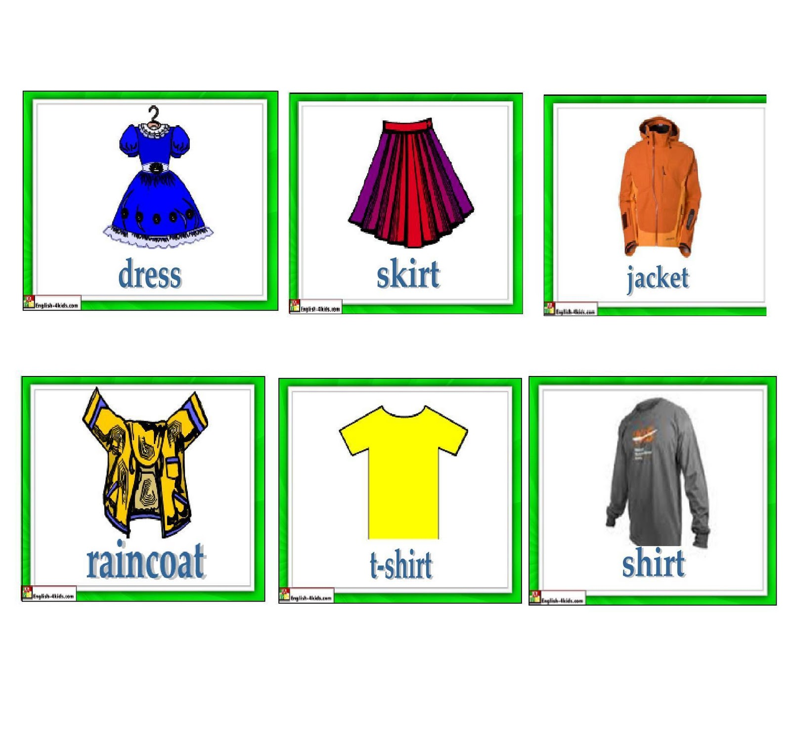 english lessons children lesson 17 clothes and colors