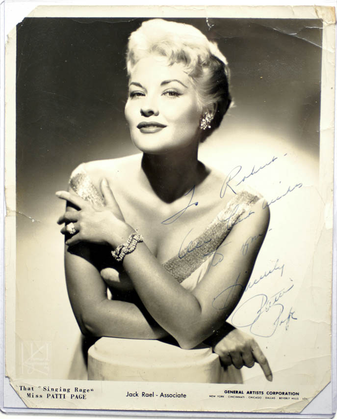 That Singing Rage Miss Patti Page Part Of